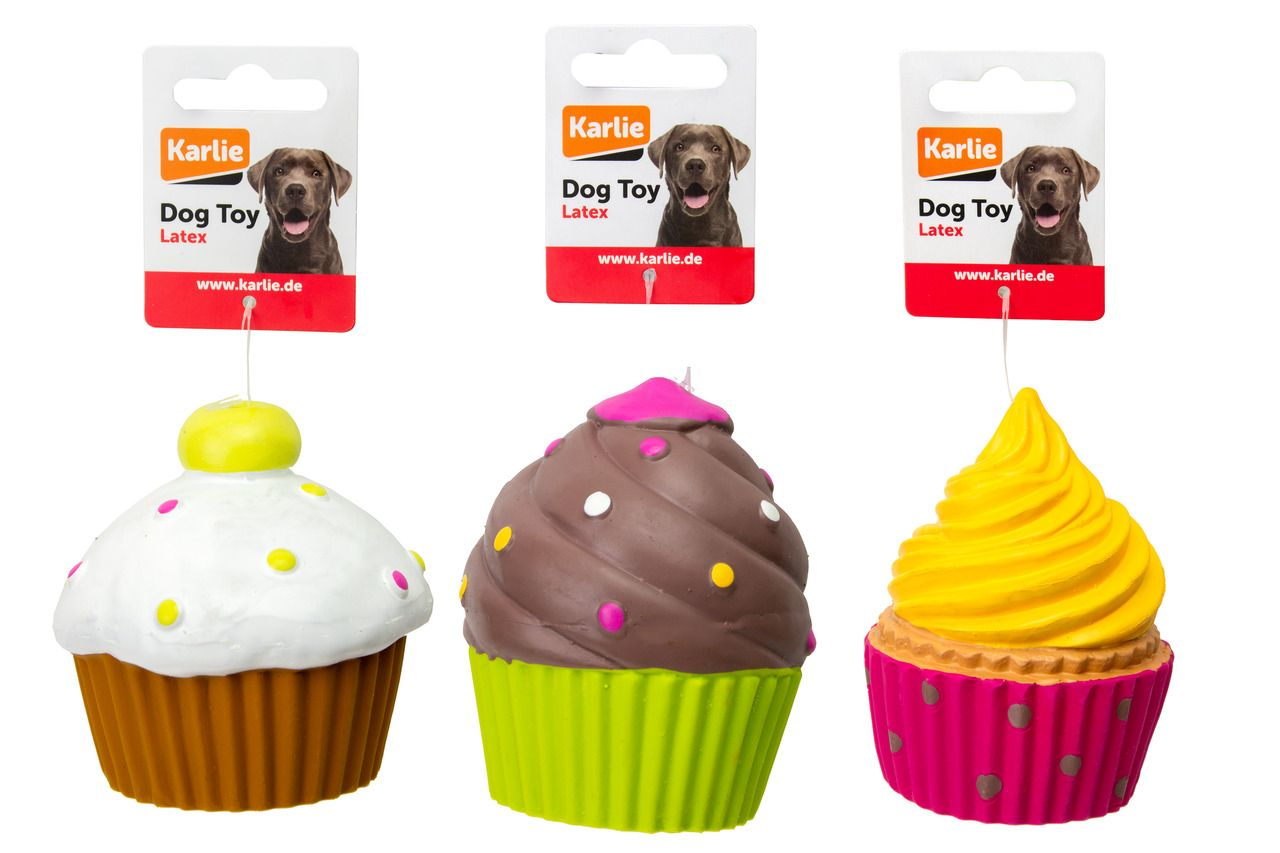 Hundespielzeug Cupcacke mit Squeaker