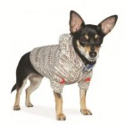 EINZELSTÜCK Hundepullover mit Kauze aus Kaschmir-MIX S