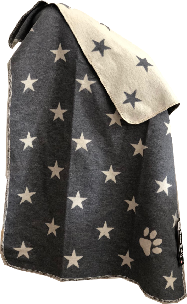 Haustierdecke, Sterne allover 70/90cm, grau
