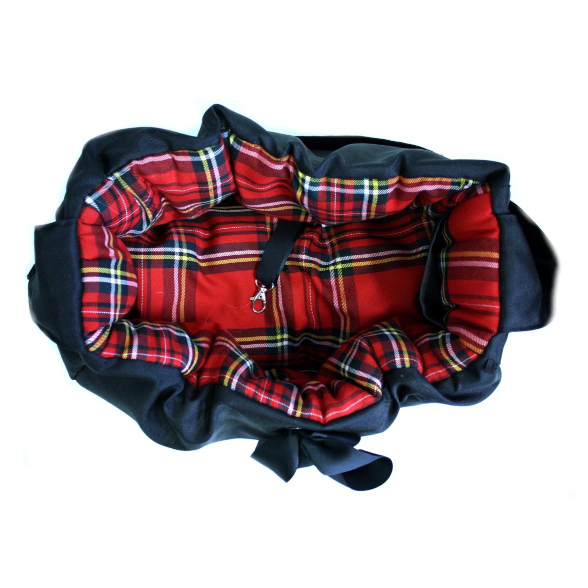 Hundetasche Modern Schwarz rot