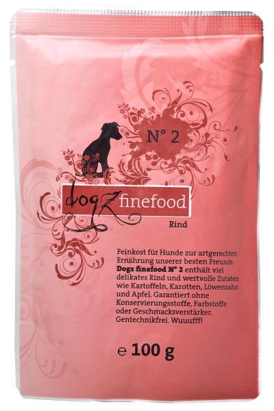 Dogz Finefood Rind 100g